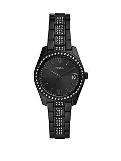 8644c74db Scarlette Three-Hand Date Black Stainless Steel Bracelet Watch BLACK. QUICK  VIEW. Product image