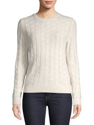 Cable-Knit Cashmere Sweater...