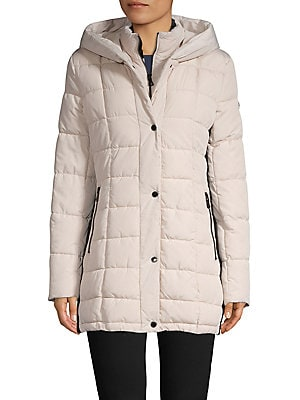 372774e33859c Calvin Klein - Petite Quilted Snap-Front Jacket