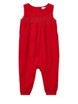 Baby Girls Cord Cotton Coverall