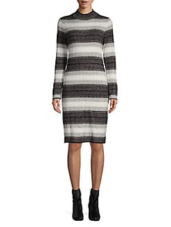 b879cb1092 QUICK VIEW. Calvin Klein. Striped Knit Dress
