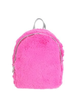 Girl's Faux Fur Backpack...