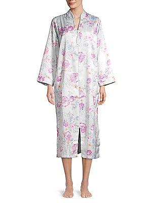 bd321b484b Miss Elaine - Floral Kimono Zip Nightgown