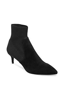 8871e786abb7c Kagan Kitten Heel Sock Booties GREY. QUICK VIEW. Product image