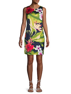 e0f83bef QUICK VIEW. Tommy Bahama. Botanical-Print Sheath Dress