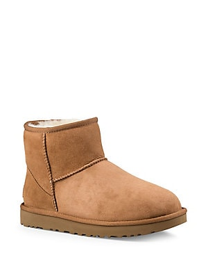 6f92bb442a5 Ugg - Women's Mika Classic UGGpure and Sheepskin-Lined Suede Sneaker ...