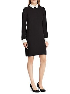 Product image. QUICK VIEW. Lauren Ralph Lauren. Layered Crepe Dress