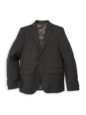 Boys Plaid Suit Jacket
