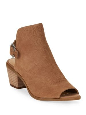 Bray Leather Peep Toe Ankle Boots by Lucky Brand