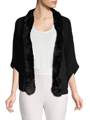 Rabbit Fur-Trimmed Cashmere...