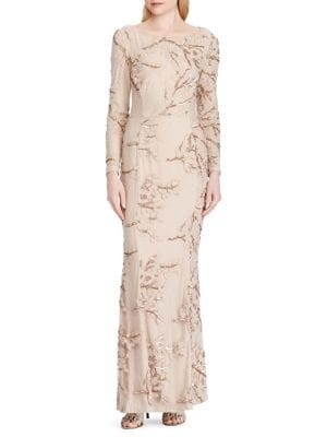 Sequined Embroidery Long...