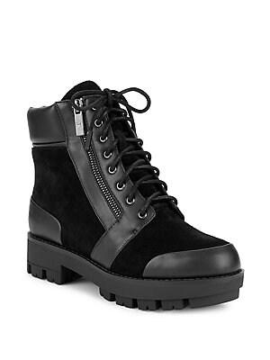 8da5745bab2e H Halston - Millie Treaded Lace-Up Boots - lordandtaylor.com