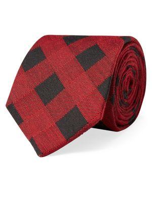 Buffalo Check Plaid Tie...