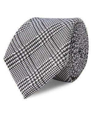 Glen Plaid Silk Tie @...