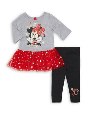 Baby Girls TwoPiece Minnie Mouse Sweet Like Sugar Top  Pant Set
