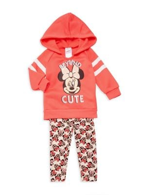 Baby Girls TwoPiece Minnie Beyond Cute Hoodie  Leggings Set