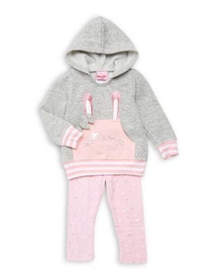 Baby Girls TwoPiece Hooded Bunny Pajama Set