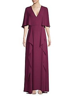 92217a36f0c Product image. QUICK VIEW. BCBGMAXAZRIA. V-Neck Flounce Maxi Dress