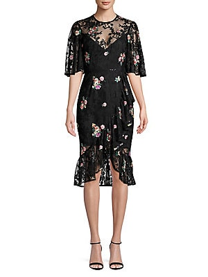 af63a9959c1 Cooper St - Floral Lace Wrap Dress