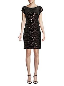 f541bc2d6e485 QUICK VIEW. Eliza J. Sequined Velvet Dress