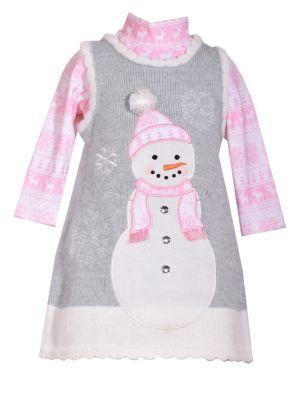 Baby Girls TwoPiece Snowman Sweater Jumper  Top Set