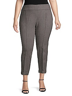 c501ed944becef QUICK VIEW. Lord & Taylor. Plus Golden Eye Printed Kelly Pants
