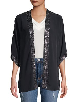 Sequin-Trimmed Cover-Up...
