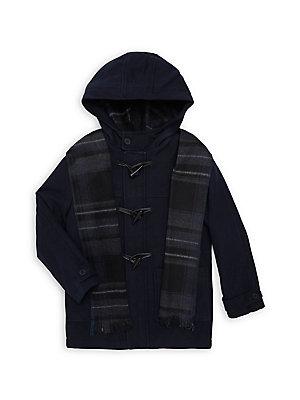 ac156e0ca39 Michael Kors - Boy s Snorkel Faux-Sherpa Hooded Jacket ...
