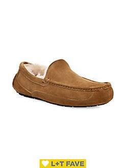 Men's Slippers: Sheepskin, Moccasin