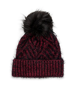 9c08f414c82 Norla - Fox Fur Pom Beanie - lordandtaylor.com