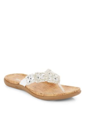 Glam-Athon Embellished Thong Sandals by Kenneth Cole REACTION