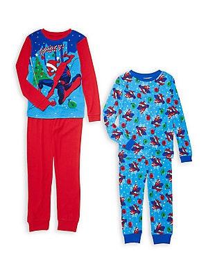 a1f856f0d Ame Sleepwear - Little Boy s   Boy s 2-Piece Spiderman Sleepwear Set ...
