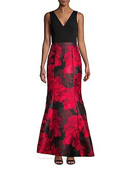 Quick View Calvin Klein Fl Sleeveless Gown
