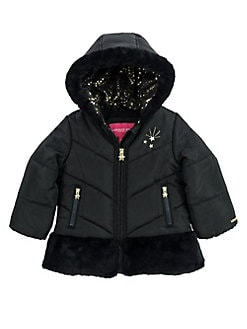 1697b3cea QUICK VIEW. London Fog. Little Girl's Faux Fur-Trimmed Quilted Jacket