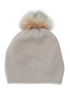 9f649ec4ddb97 Product image. QUICK VIEW. Portolano. Cashmere and Fox Fur Beanie