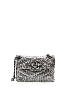 28d2c65709 QUICK VIEW. Kurt Geiger London. Metallic Mayfair Quilted Chain Crossbody Bag