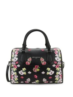 Image of Willow Floral Leather Satchel