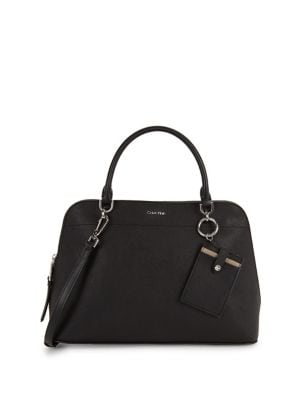 Structured Leather Satchel...