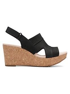 42f899502c0 QUICK VIEW. Clarks. Annadel Nubuck Wedge Sandals