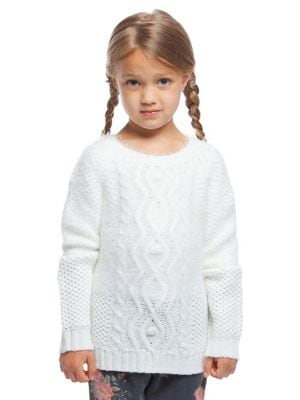 Little Girl's Ivy Cable-Knit...