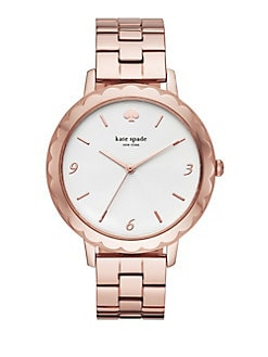 5fc42361102 Product image. QUICK VIEW. Kate Spade New York. Metro Scallop Three-Hand Stainless  Steel Bracelet Watch.  225.00