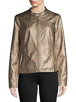 ee7b62eb7be QUICK VIEW. Ivanka Trump. Faux-Leather Zip-Up Jacket