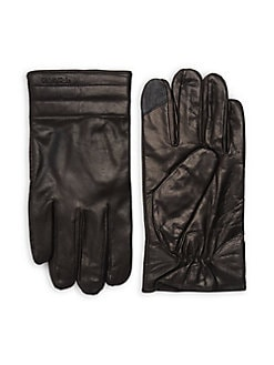 8912e78f8dc Quilted Leather Gloves BLACK. QUICK VIEW. Product image