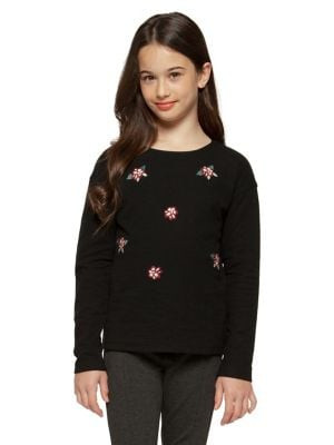 Girl's Floral Cotton...