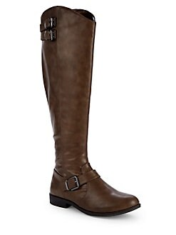 Aydin Tall Riding Boots BROWN. Product image