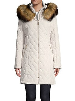 21c133165ed1 Faux Fur-Trimmed Quilted Jacket PEARL. QUICK VIEW. Product image