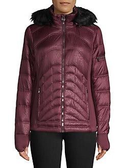 83fe8aa92502 QUICK VIEW. MICHAEL Michael Kors. Mixed-Quilt Faux Fur Trimmed Coat