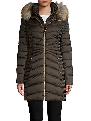 978afa7e6fb5 Laundry by Shelli Segal - Faux Fur-Trimmed Quilted Jacket ...