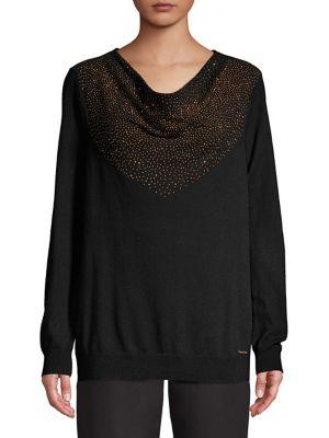 c60043cfe11 Calvin Klein - Printed Cowlneck Sweater