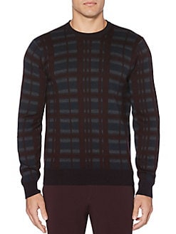QUICK VIEW. Perry Ellis. Multicolor Plaid Crewneck Sweater 8f9a965df